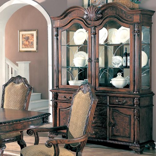 Coaster Saint Charles Buffet and Hutch with Two Glass Doors