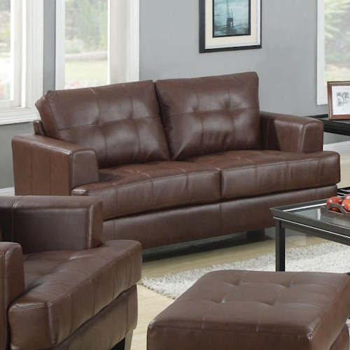 Coaster Samuel Loveseat w/ Attached Seat Cushions