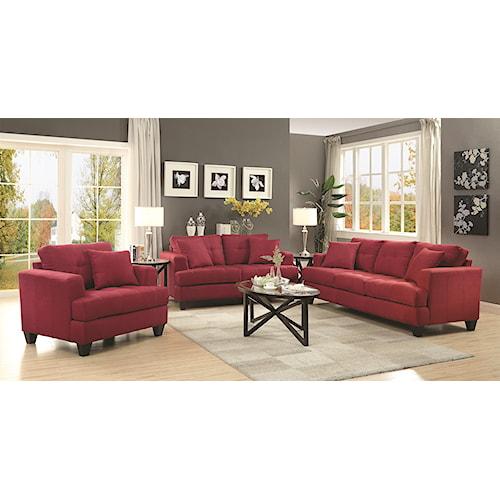 Coaster Samuel Sofa Stationary Living Room Group