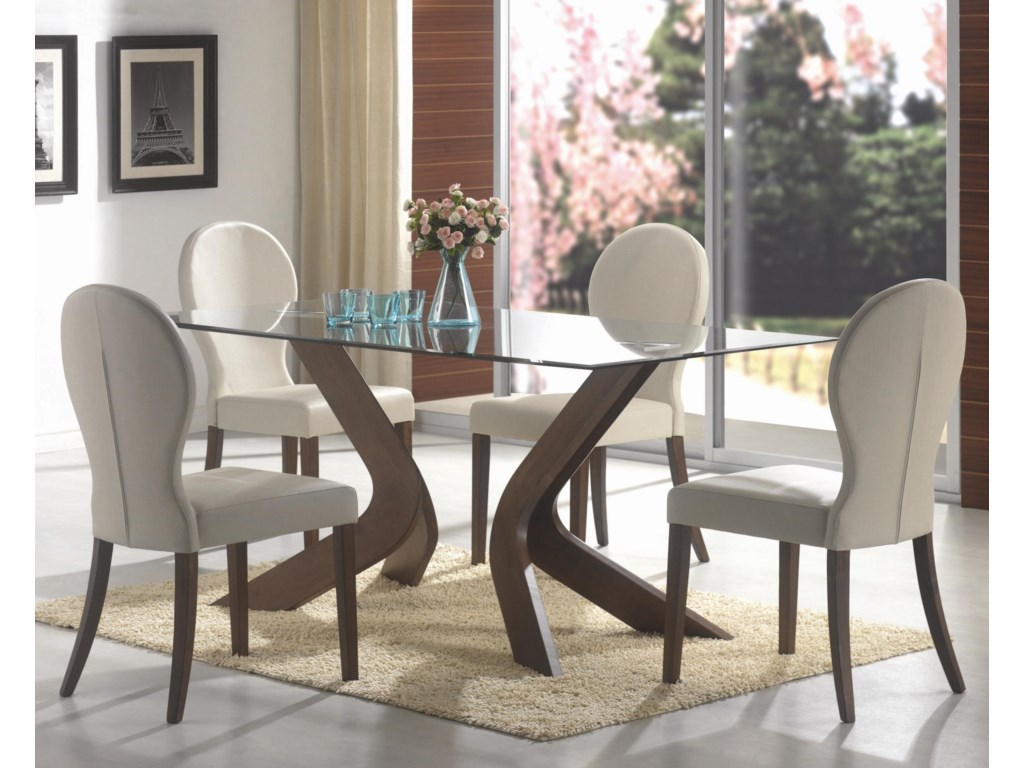 Shown with Table