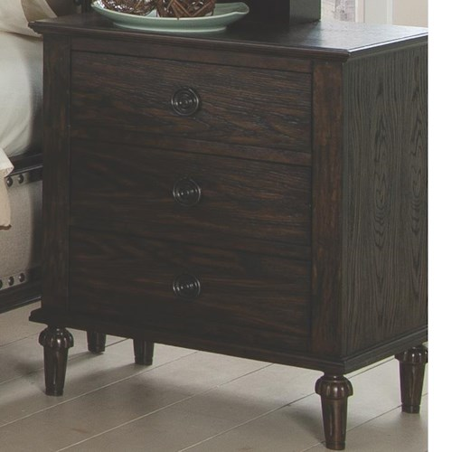 Coaster Saville Nightstand with 3 Drawers and Power Unit