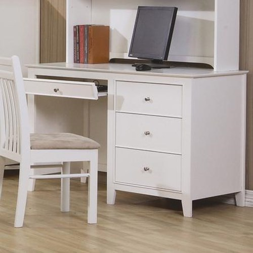 Coaster Selena Computer Desk with Drawer Storage