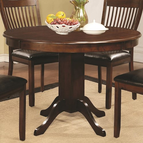 Coaster Sierra Round Dining Table with Pedestal Base