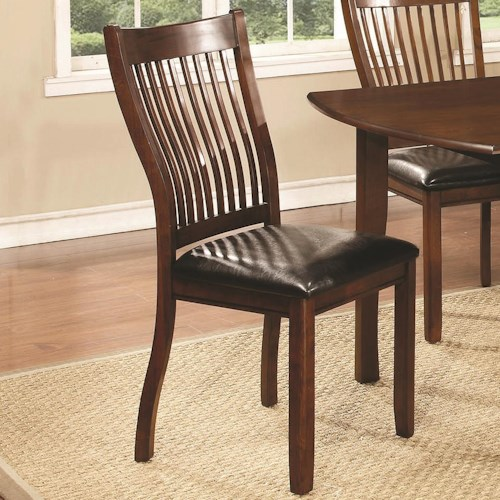 Coaster Sierra Side Chair with Bent Slats