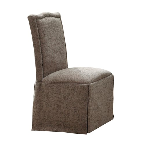 Coaster Slauson Upholstered Parson Chair with Nail Head Trim and Skirt