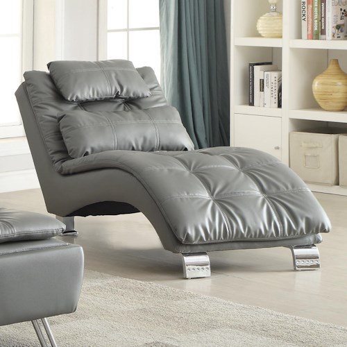 Coaster Dilleston Casual Contemporary Living Room Chaise