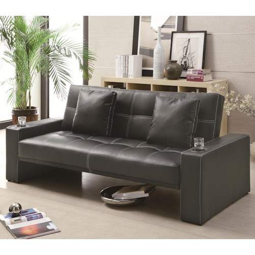 Coaster Sofa Beds and Futons -  Futon Styled Sofa Sleeper with Casual Furniture Style