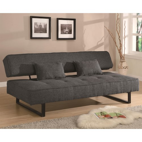 Coaster Sofa Beds and Futons -  Contemporary Armless Sofa Bed
