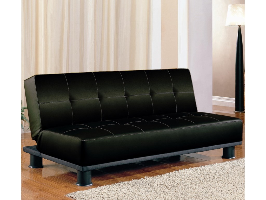 Shown in Black Faux Leather