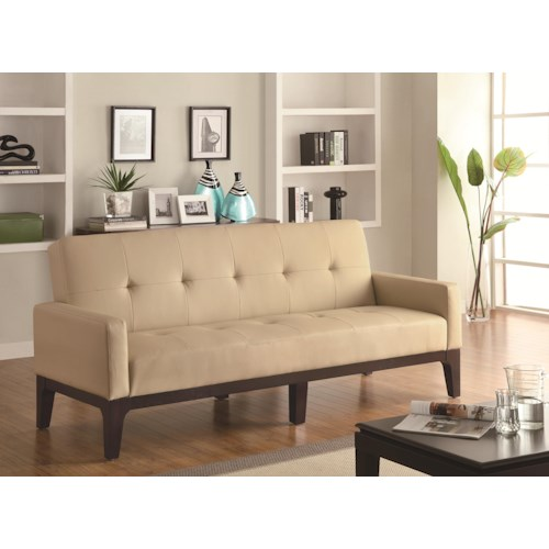 Coaster Sofa Beds and Futons -  Tufted Sofa Bed with Track Arms