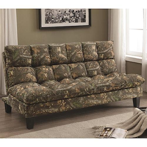 Coaster Sofa Beds and Futons -  Camo Adjustable Sofa Bed