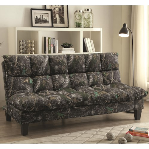 Coaster Sofa Beds and Futons -  Camo Adjustable Sofa Bed