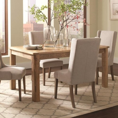 Coaster Solomon Wood Dining Table with Inlaid Design