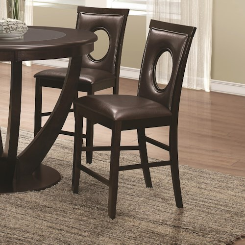 Coaster Stapleton Counter Height Chair with Circle Cut-out Back