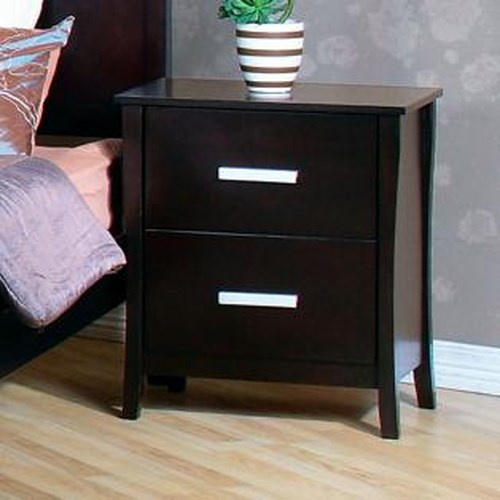 Coaster Stuart Contemporary 2 Drawer Nightstand