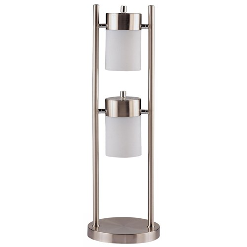 Coaster Table Lamps Contemporary Table Lamp with 2 Adjustable Swivel Lights