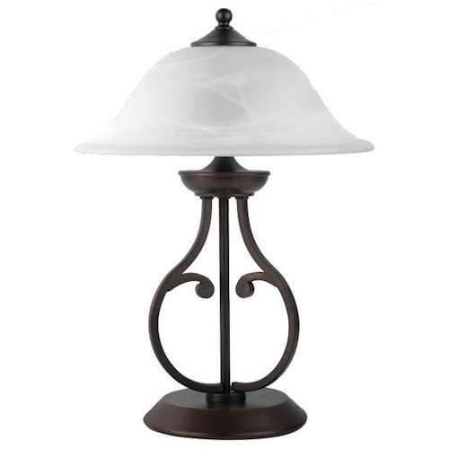 Coaster Table Lamps Table Lamp with Glass Shade