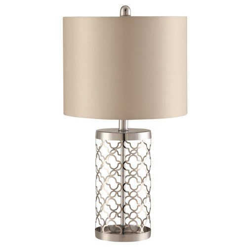 Coaster Table Lamps Chrome Table Lamp