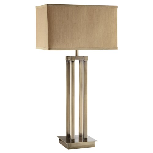 Coaster Table Lamps Contemporary Table Lamp with Linen Shade