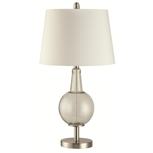 Coaster Table Lamps Clear Glass Table Lamp