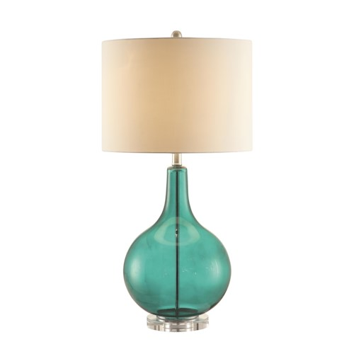 Coaster Table Lamps Turquoise Glass Lamp