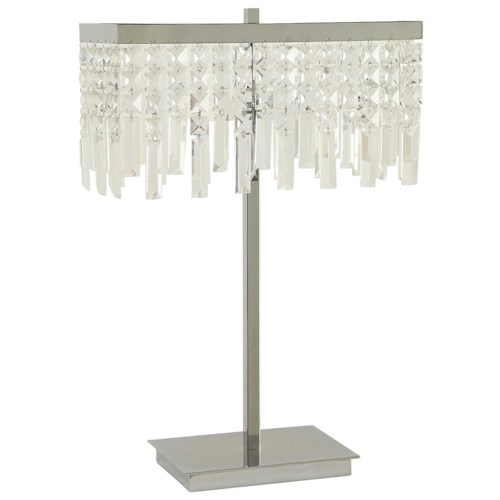 Coaster Table Lamps Dropped Crystal Shade Table Lamp