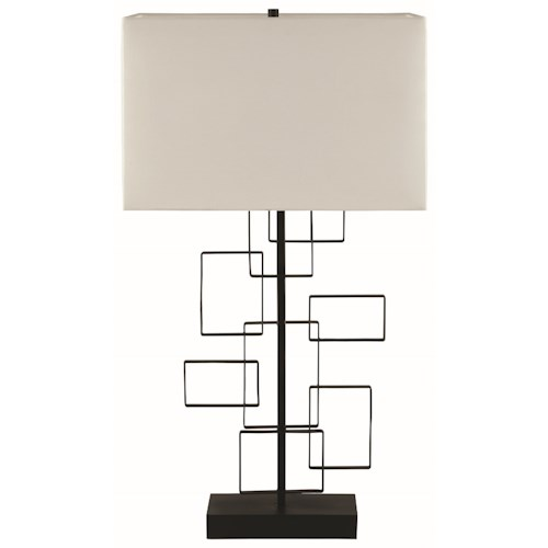 Coaster Table Lamps Black Table Lamp Interlocking Rectangle Design