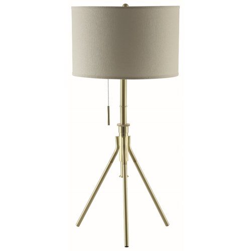 Coaster Table Lamps Gold And Beige Adjustable Table Lamp
