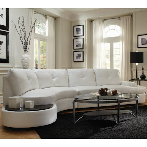 Coaster Talia Contemporary Sectional Conversation Sofa with Built-In Table