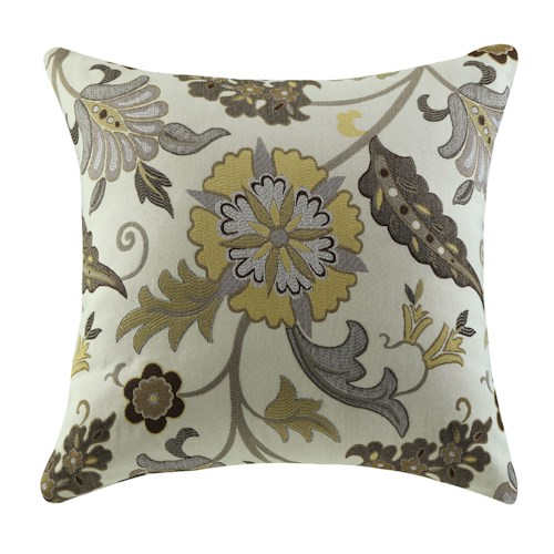 Coaster Throw Pillows Brown and Gold Floral Pillow