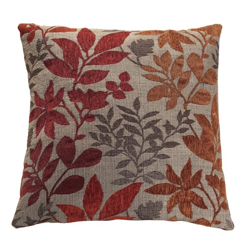 Coaster Throw Pillows Red and Orange Floral Pillow