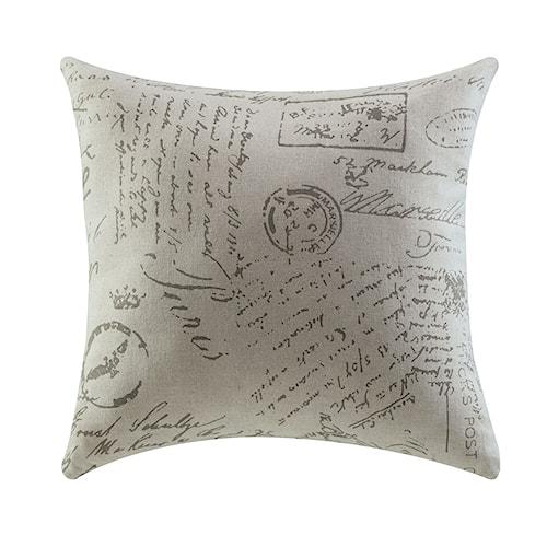 Coaster Throw Pillows White Script Pillow