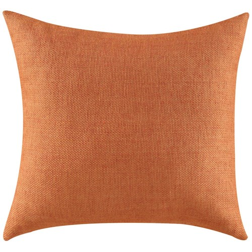 Coaster Throw Pillows Textured Orange Accent Pillow