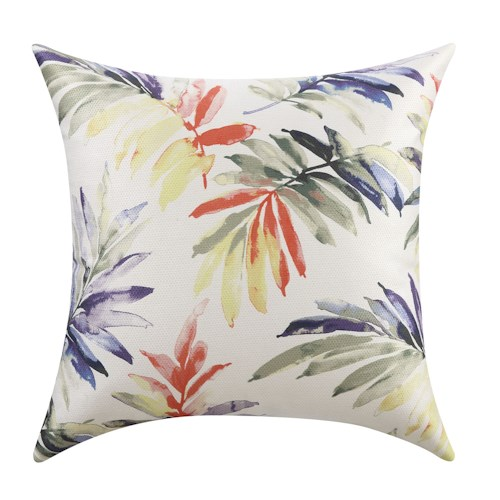 Coaster Throw Pillows Watercolor Floral Patterned Pillow