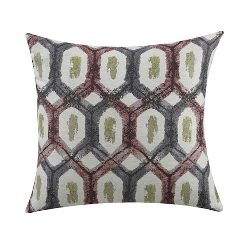 Coaster Throw Pillows Red and Grey Turtle Shell Pillow