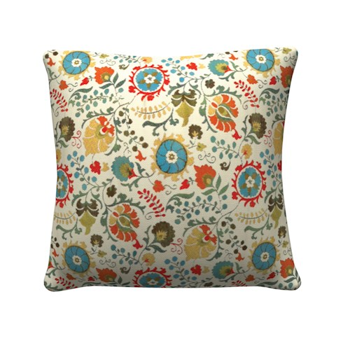 Coaster Throw Pillows Multicolored Floral Pillow