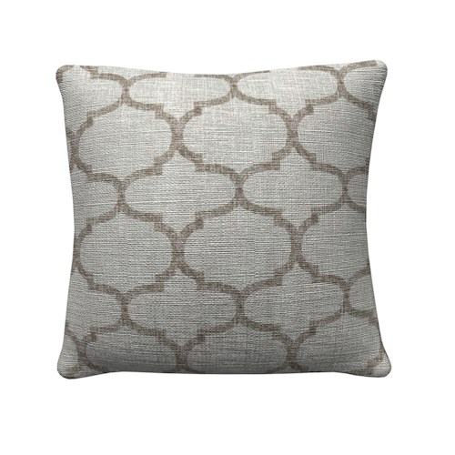 Coaster Throw Pillows Large Grey Quadrefoil Pillow