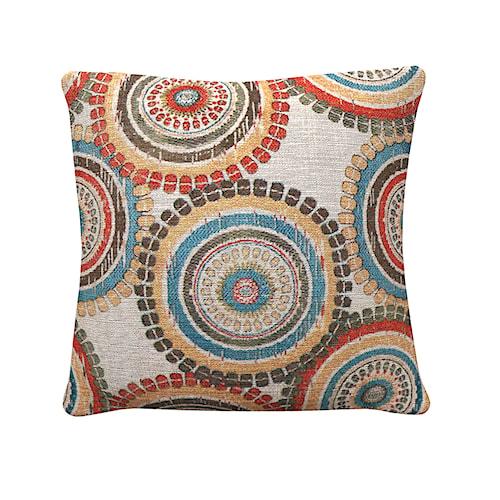 Coaster Throw Pillows Mutlicolor Medallion Pillow
