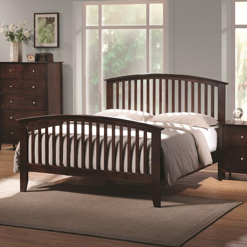 Coaster Tia Queen Headboard & Footboard Bed with Tapered Legs