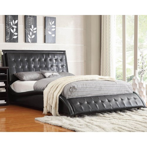 Coaster Tully Upholstered Queen Bed
