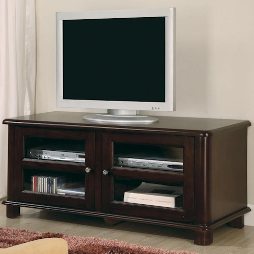 Coaster TV Stands Transitional Media Console with Doors and Shelves