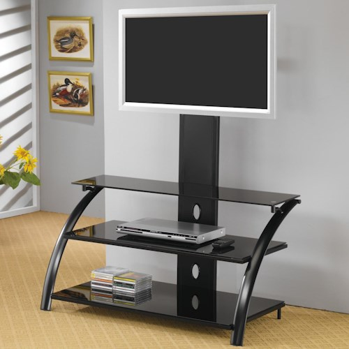 Coaster TV Stands Casual Contemporary Metal Media Console with Bracket