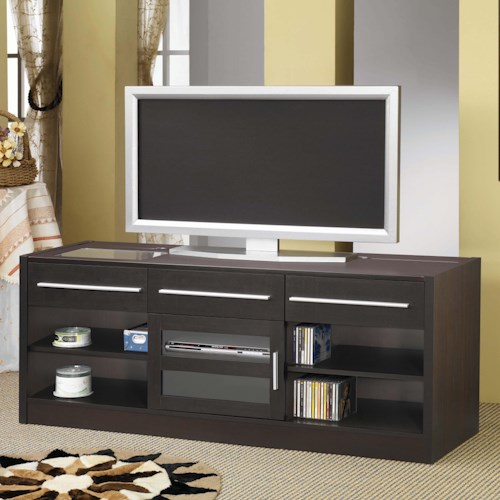 Coaster TV Stands Contemporary TV Console with CONNECT-IT Power Drawer-RTA