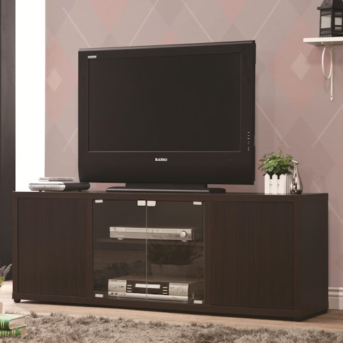 Coaster TV Stands TV Console with Push-to-Open Glass Doors