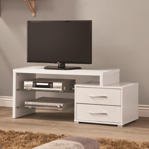 Coaster TV Stands Contemporary Cappuccino TV Console