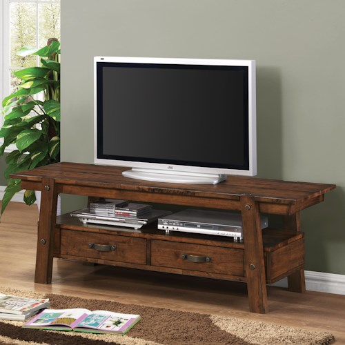 Coaster TV Stands Rustic Pecan 60