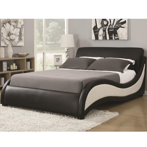 Coaster Upholstered Beds Queen Niguel Modern Upholstered Bed