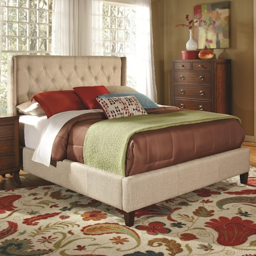 Coaster Upholstered Beds Upholstered King Bed with Tall, Tufted Headboard