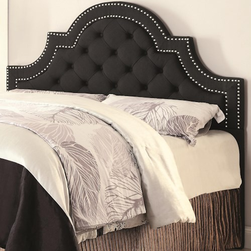 Coaster Upholstered Beds Queen/ Full Ojai Upholstered Headboard with Button Tufting