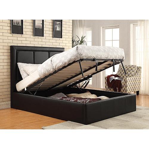 Coaster Upholstered Beds King Jacobsen Upholstered Storage Bed